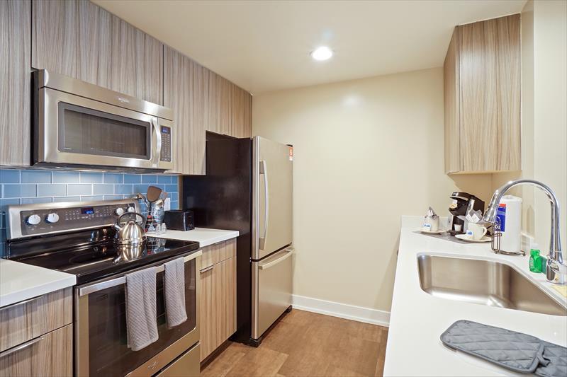 Kitchen at Soma Apartments