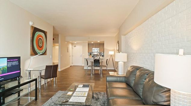 Living room at Soma Apartments