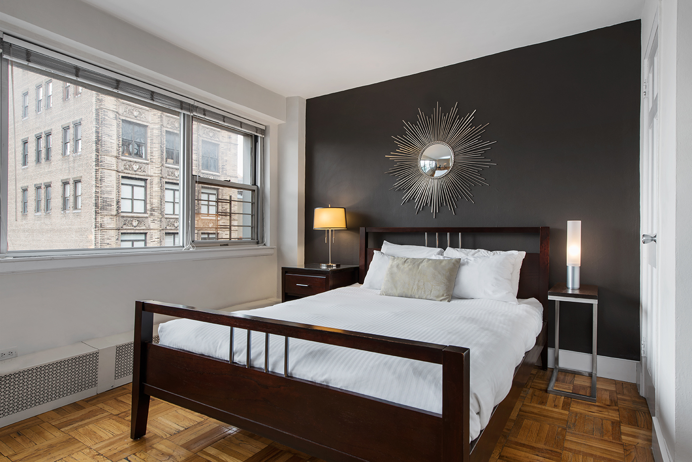 Bedroom at 60 East 12th Street Apartments