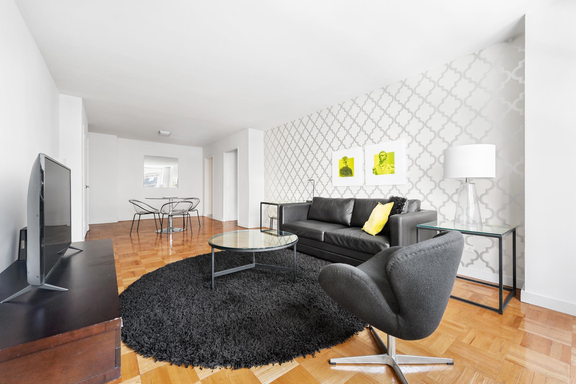 TV at 60 East 12th Street Apartments, Greenwich Village, Manhattan