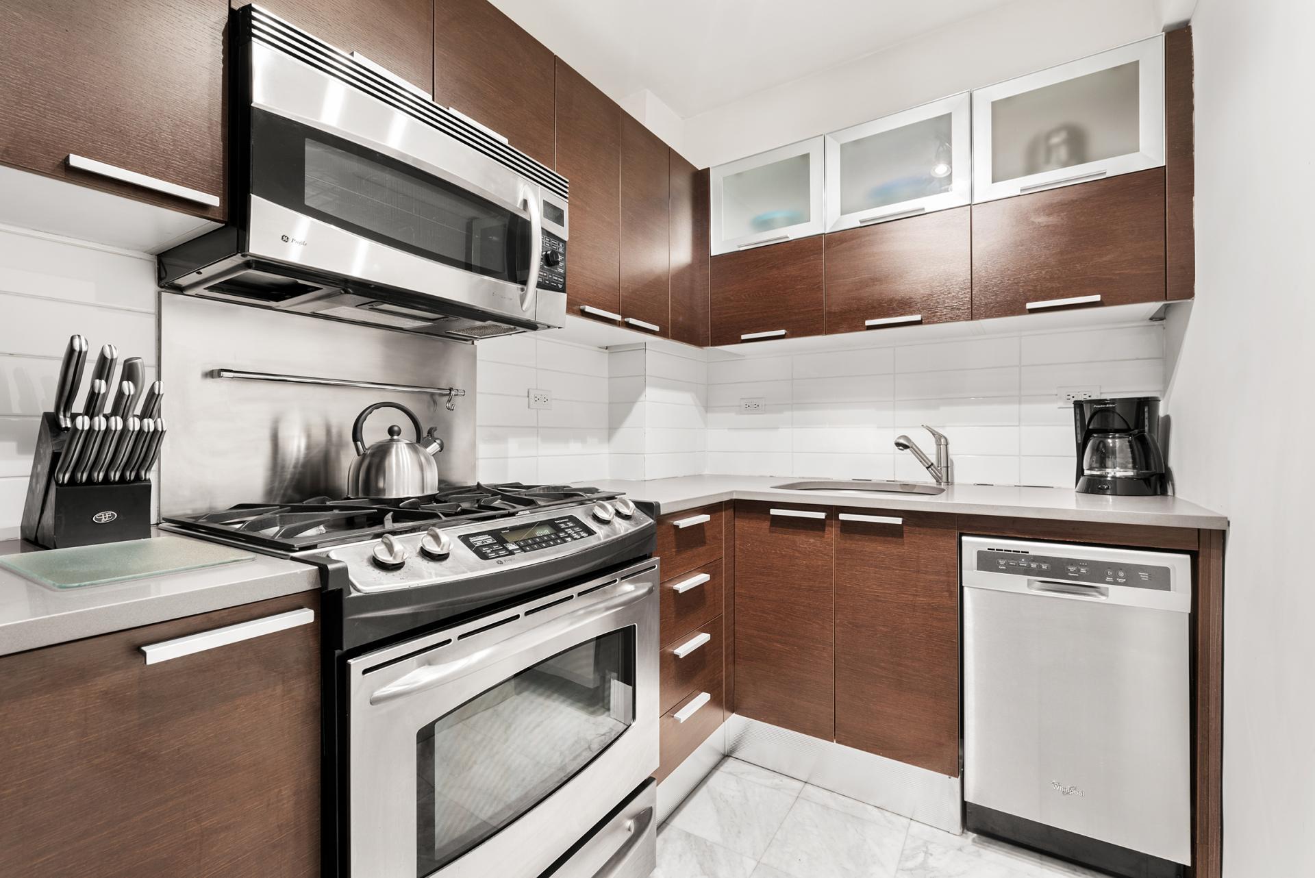 Kitchen at 60 East 12th Street Apartments, Greenwich Village, Manhattan