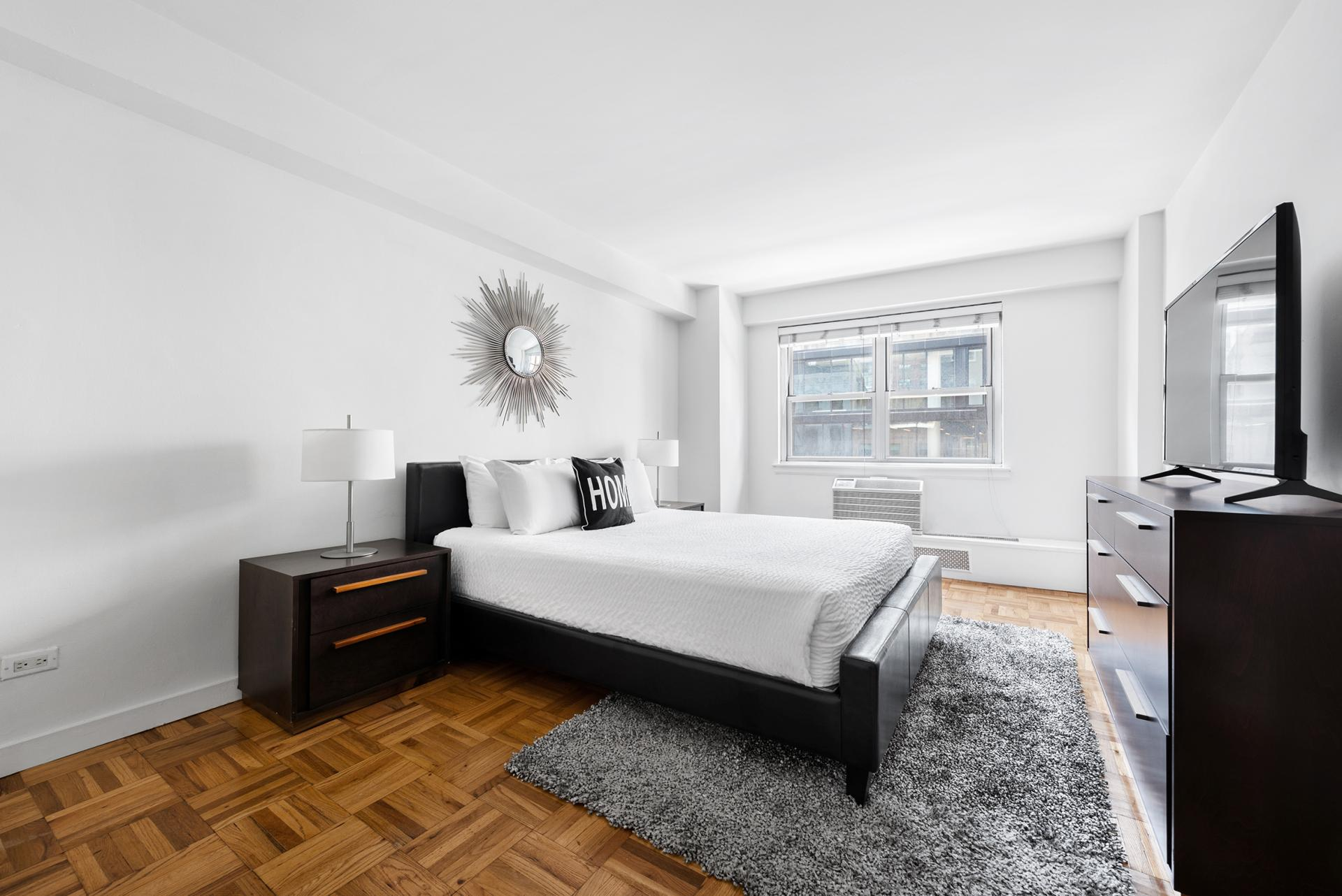 Bedroom at 60 East 12th Street Apartments, Greenwich Village, Manhattan