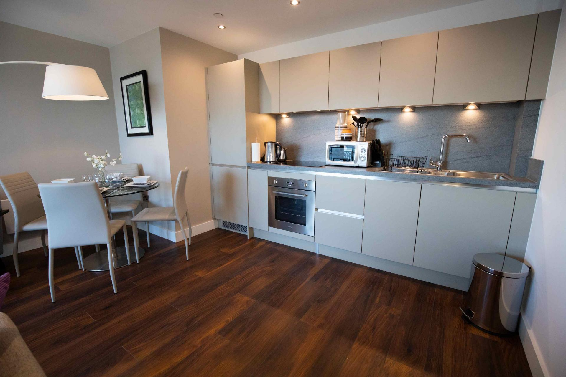 Dining area at Manchester Greengate Apartments