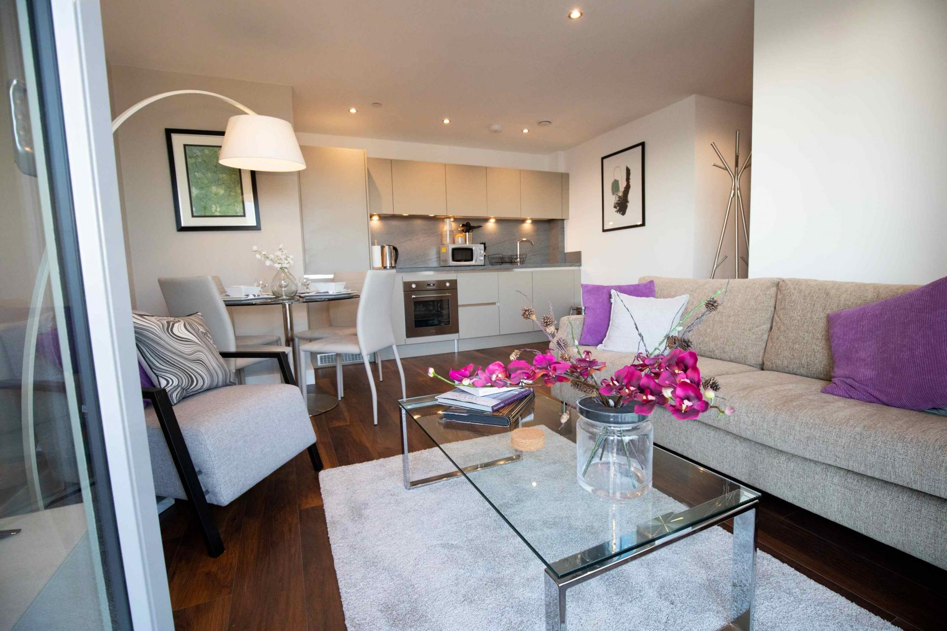 Lounge at Manchester Greengate Apartments