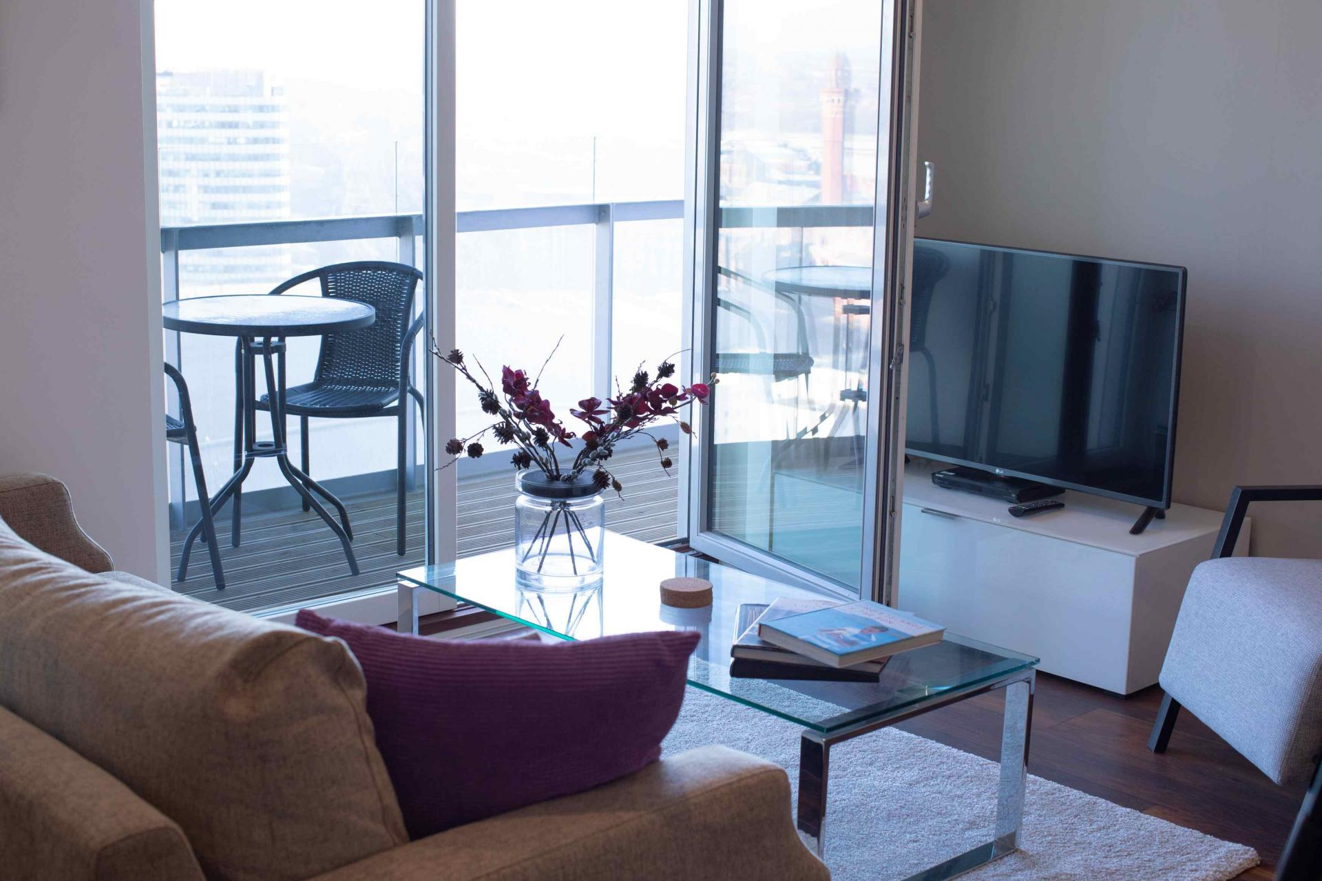 Lounge view at Manchester Greengate Apartments