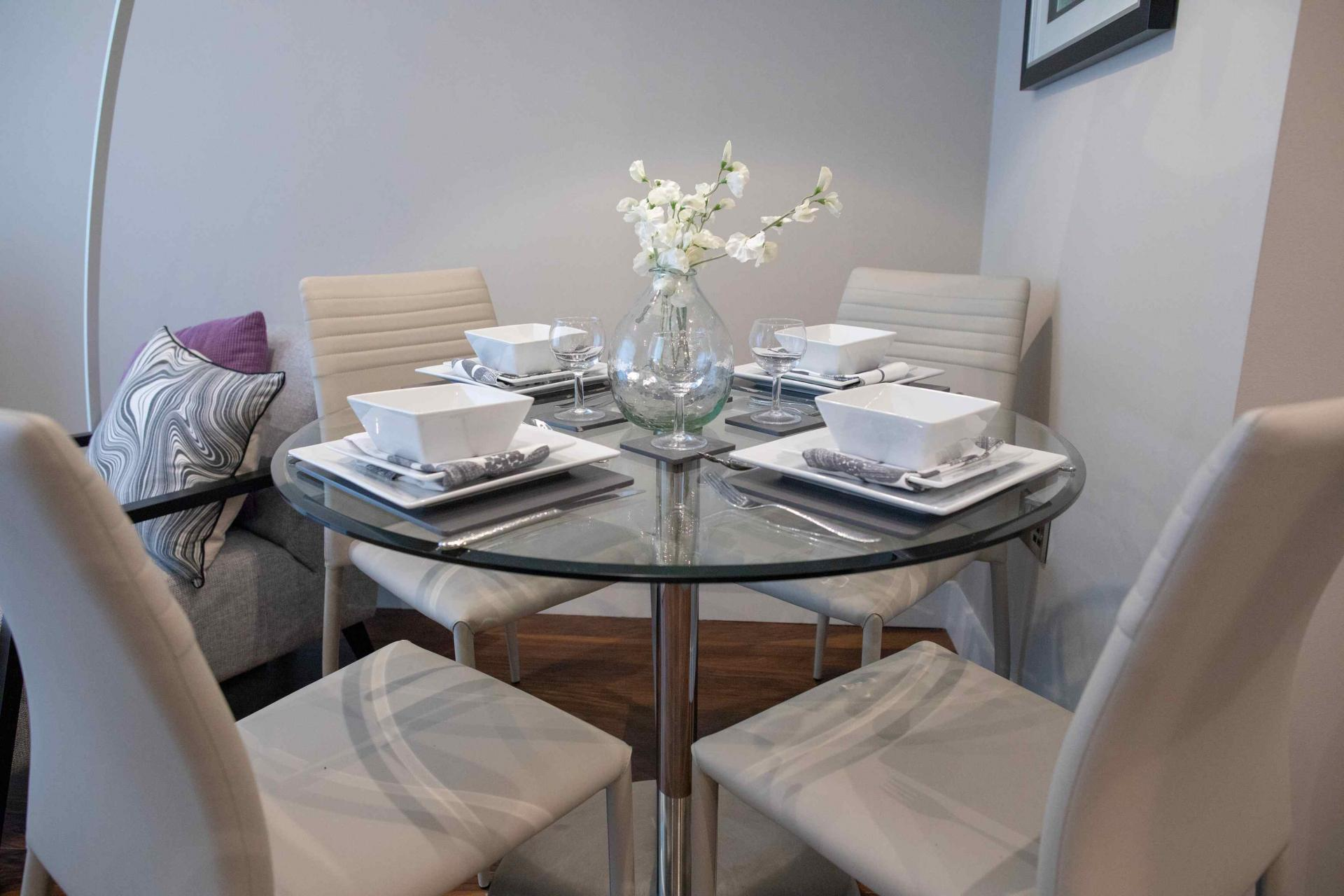 Table at Manchester Greengate Apartments