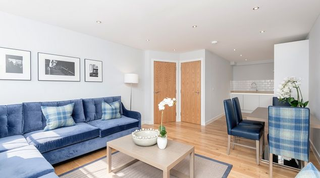 Living room at Royal Mile Residence Apartments