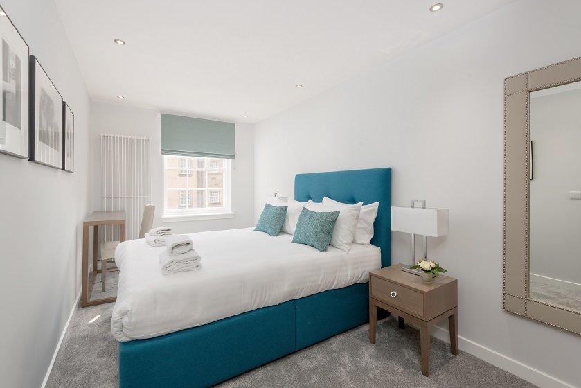 Bedroom at Royal Mile Residence Apartments