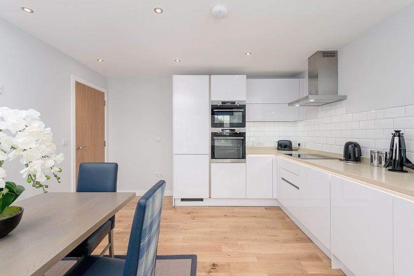 Modern kitchen at Royal Mile Residence Apartments