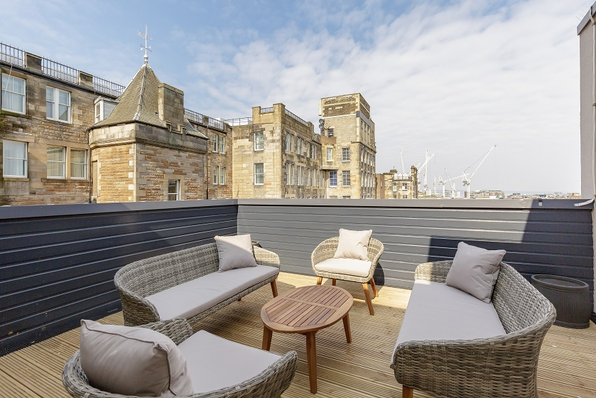 Terrace area at Royal Mile Residence Apartments