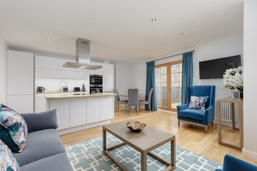 Lounge area at Royal Mile Residence Apartments