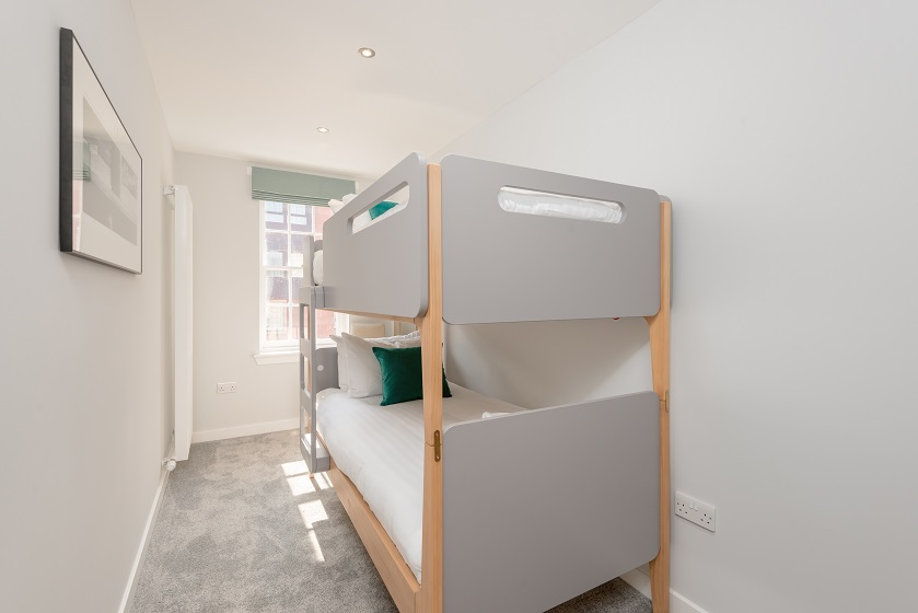 Bunk beds at Royal Mile Residence Apartments