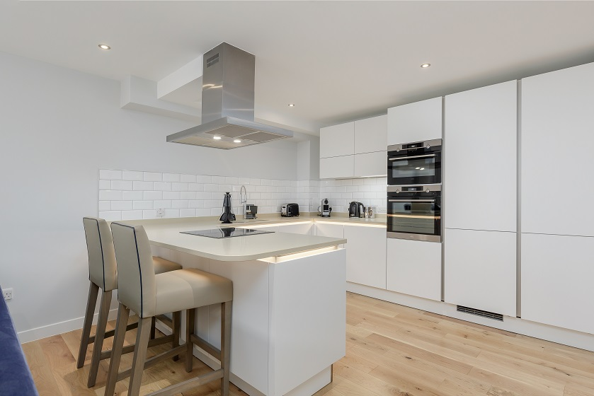 Stylish kitchen at Royal Mile Residence Apartments