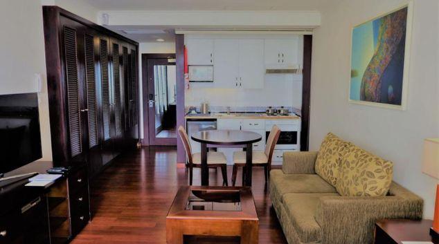 Living room at The Landmark Apartment
