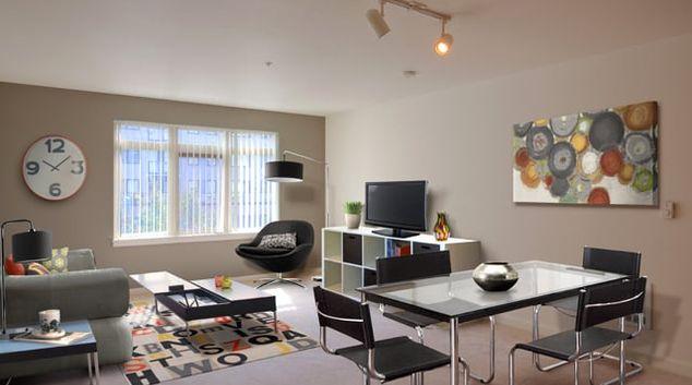 Living Room at Ava Belltown