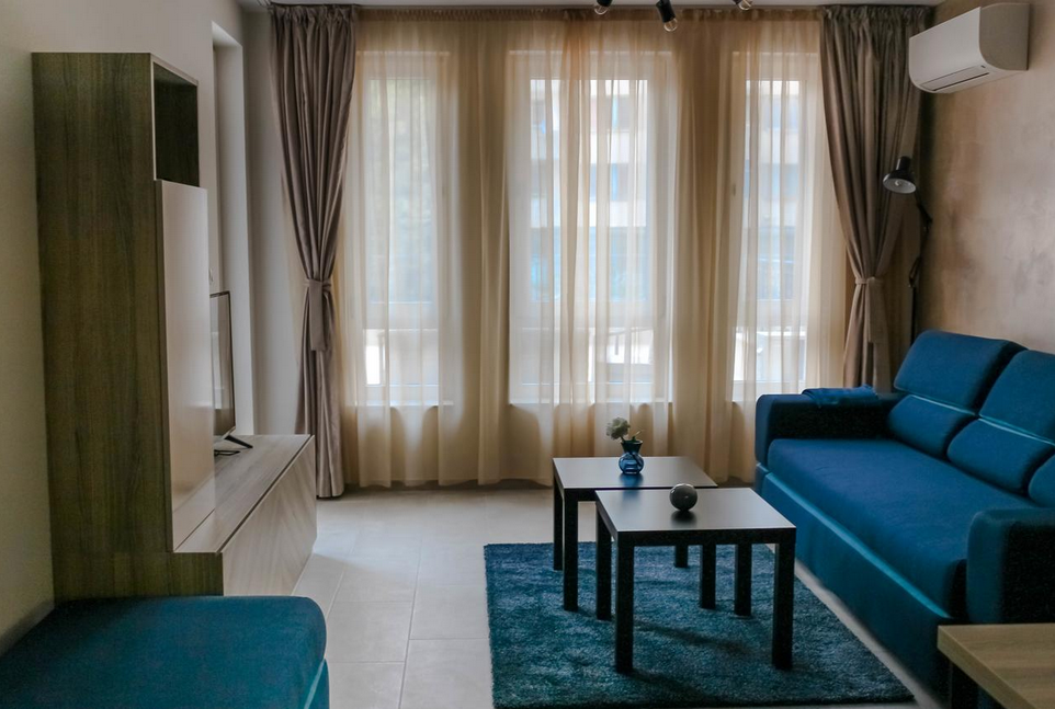 Living room at Plovdiv Luxury Apartment