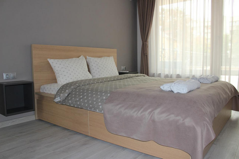 Bedroom at Plovdiv Luxury Apartment