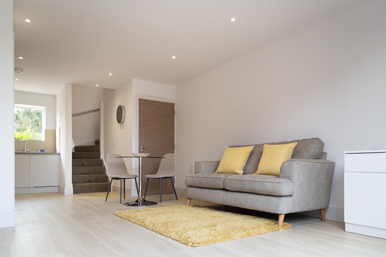 Living room at Park House Duplex Apartments