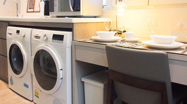 Washing machine at the Heritage Chinatown Apartments, Singapore