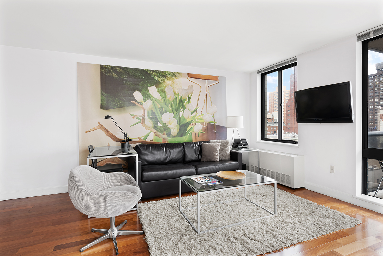 Living room at Instrata Gramercy Apartments