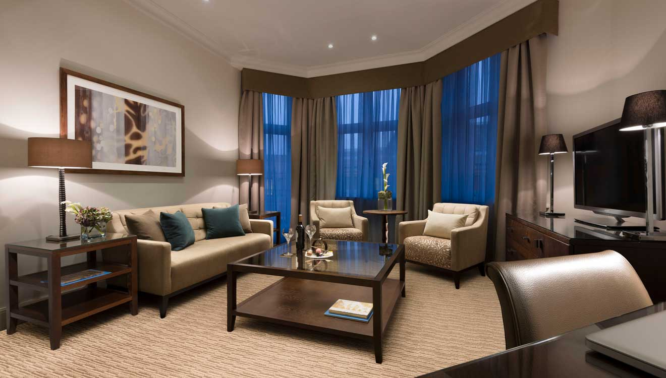 Executive master suite living room at Taj 51 Buckingham Gate