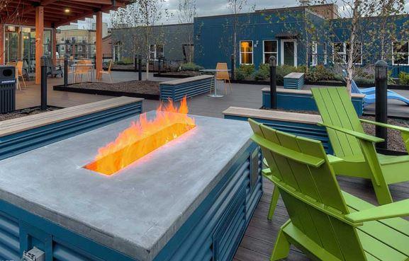 Communal Outdoor Deck  at AMLI Mark 24 Apartments