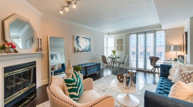 Living area at Westbrooke Place Apartment