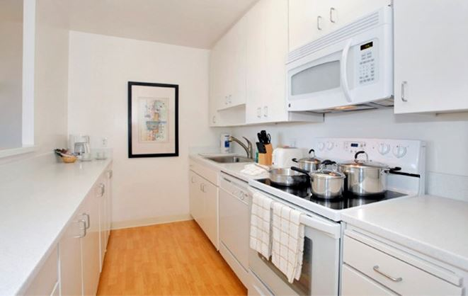 Kitchen at The Gateway Serviced Apartments