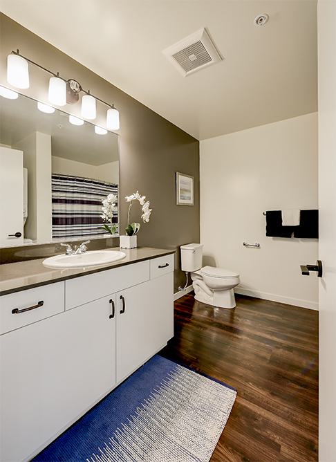 Bathroom at 642 Yale Apartment