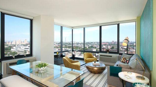 Living room at Vantage Apartments