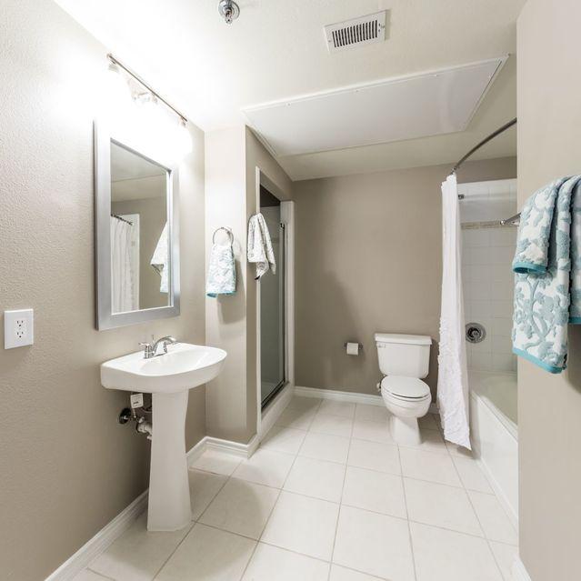 Bathroom at Marquis at Turtle Creek Apartment