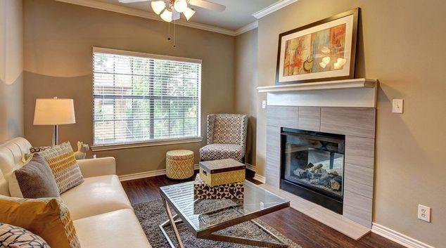 Living Room at Turtle Creek Apartment