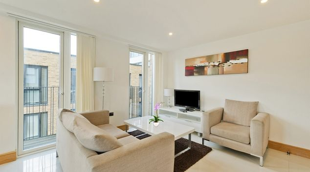 Living room at Churchway Apartments
