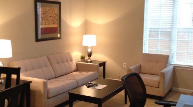 Lounge at 1301 Thomas Circle Apartment, Downtown, Washington DC