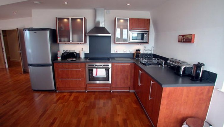 Chic kitchen at Clarence Street