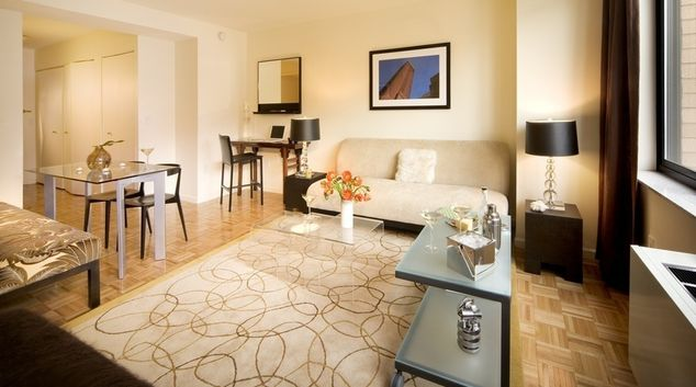 Living area at The Tate Apartments