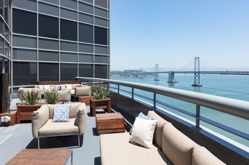 Roof top at The Towers at Rincon Apartments, The East Cut, San Francisco