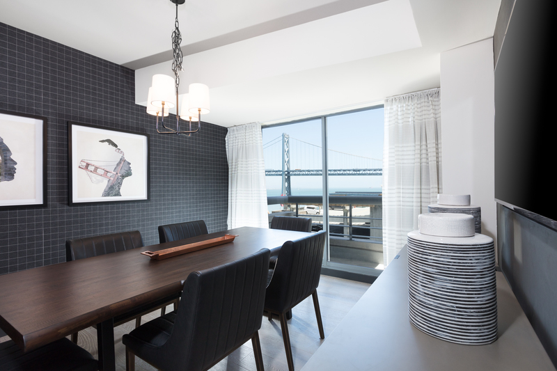 Dining table at The Towers at Rincon Apartments, The East Cut, San Francisco