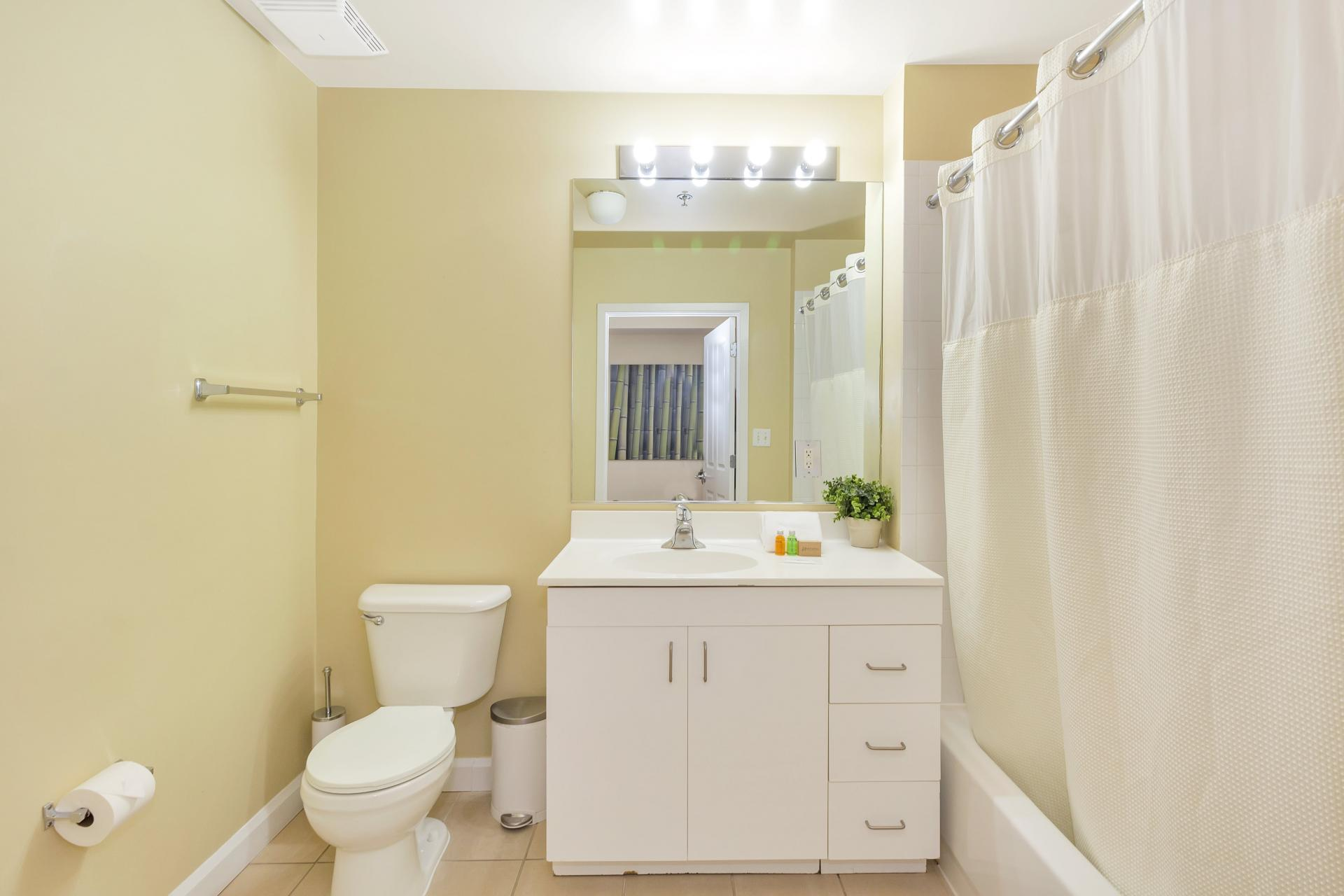 Bathroom at Exchange Place Station Apartments