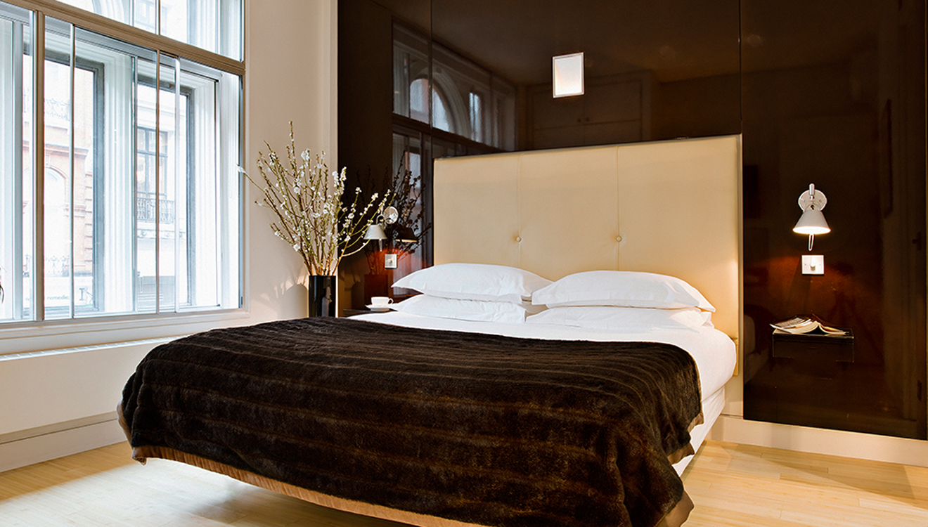 Cosy bed at No 5 Maddox Street Apartments