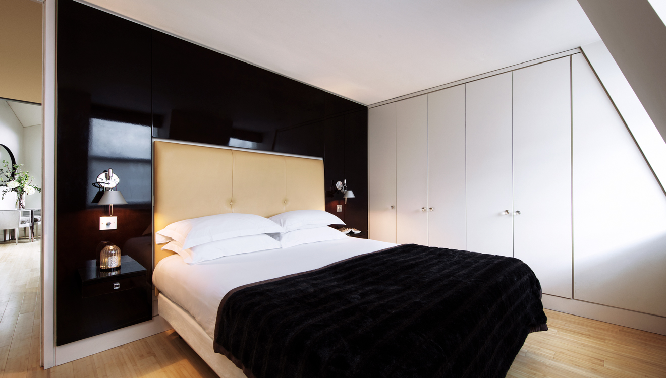 Spacious bed at No 5 Maddox Street Apartments