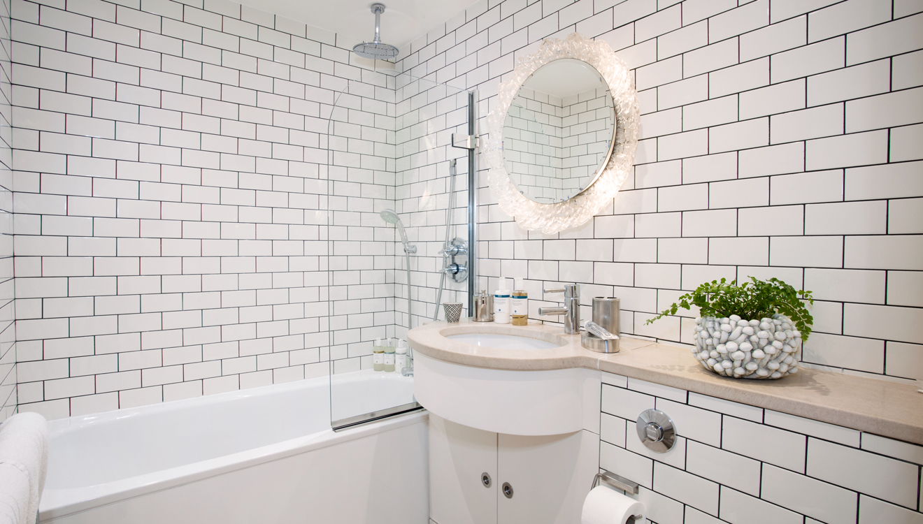 Modern bathroom at No 5 Maddox Street Apartments