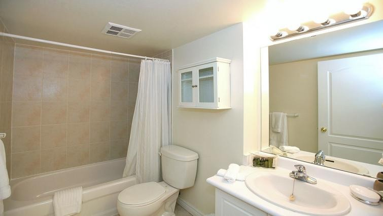 Bathroom in the Foresite Suites
