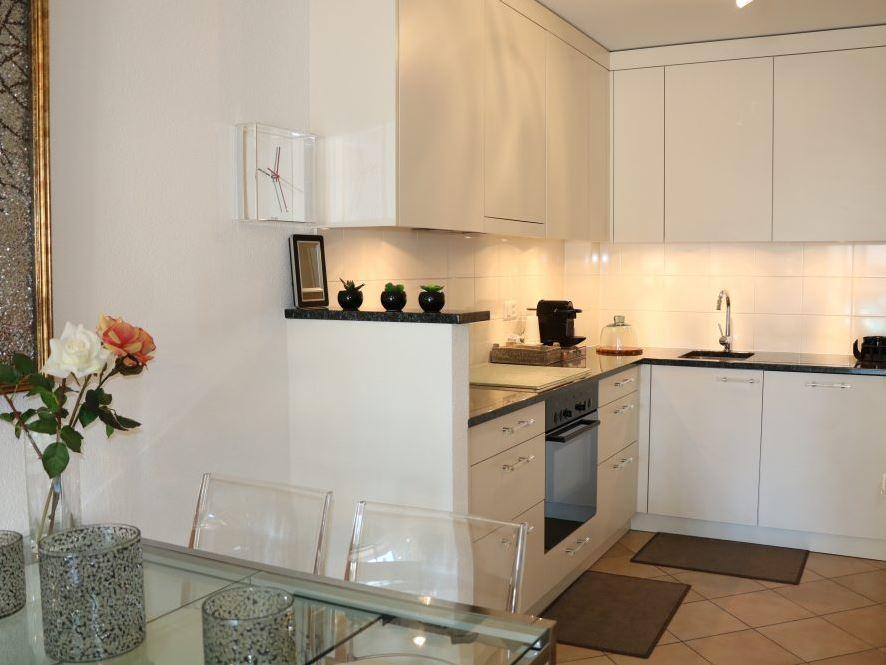 Kitchen at Rue Lausanne Apartment