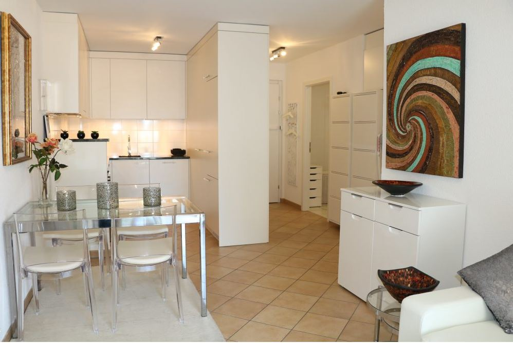 Living space at Rue Lausanne Apartment