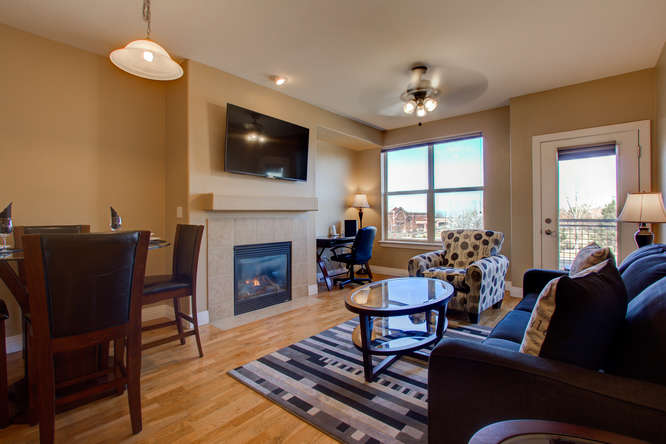 Living room at Dry Creek Crossing Apartments