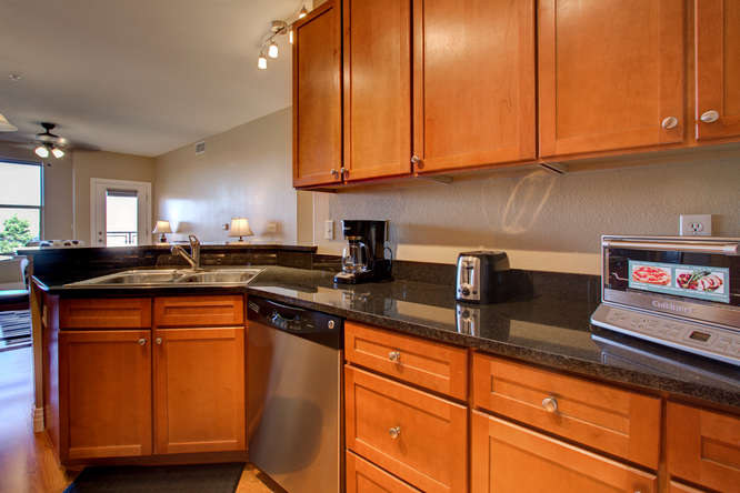 Kitchen at Dry Creek Crossing Apartments