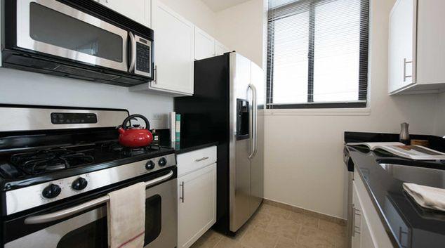 Kitchen at 180 Montague Apartments, Brooklyn, New York