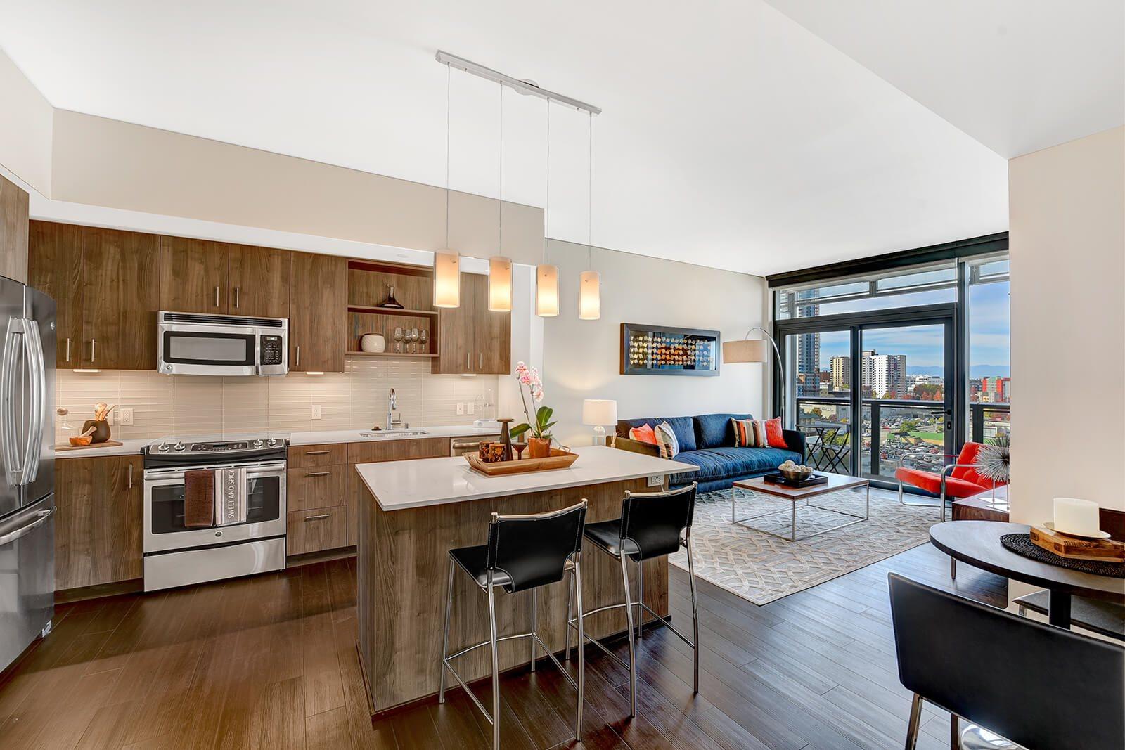 Kitchen at Cirrus Apartments