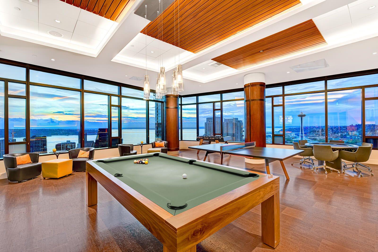 Communal Lounge at Cirrus Apartments